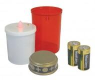 Obrázek výrobku: LED hřbitovní svíčka + baterie
